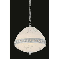 Elegant Lighting Italia 6 Light Pendant in Chrome with Swarovski Elements Clear Crystal 4720D16C/SS