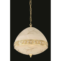 Elegant Lighting Italia 6 Light Pendant in Gold with Swarovski Elements Clear Crystal 4720D16G/SS