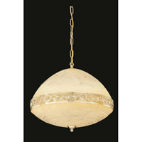 Elegant Lighting Italia 6 Light Pendant in Gold with Swarovski Elements Clear Crystal 4720D20G/SS