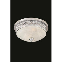Elegant Lighting Italia 2 Light Flush Mount in Chrome with Swarovski Elements Clear Crystal 4720F18C/SS