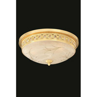 Elegant Lighting Italia 2 Light Flush Mount in Gold with Swarovski Elements Clear Crystal 4720F18G/SS