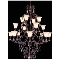 Troy 16 Light 57 inch Gilded Umber Pendant Ceiling Light, Urban Classic