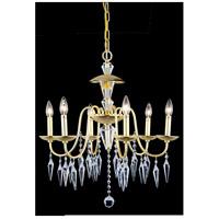 Elegant Lighting 5006D24PG/EC Gracieux 6 Light 24 inch Polished Gold Chandelier Ceiling Light in Elegant Cut