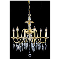 Elegant Lighting Gracieux 6 Light Chandelier in Polished Gold with Elegant Cut Clear Crystal 5006D24PG/EC