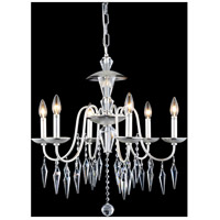Elegant Lighting Gracieux 6 Light Chandelier in Polished Silver with Elegant Cut Clear Crystal 5006D24PS/EC