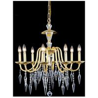Elegant Lighting 5006D26PG/EC Gracieux 8 Light 26 inch Polished Gold Chandelier Ceiling Light in Elegant Cut