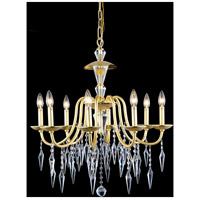 Gracieux 8 Light 26 inch Polished Gold Chandelier Ceiling Light in Elegant Cut