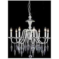 Elegant Lighting Gracieux 8 Light Chandelier in Polished Silver with Elegant Cut Clear Crystal 5006D26PS/EC