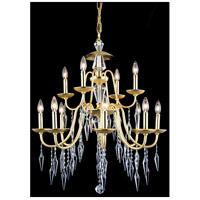 Elegant Lighting 5006D28PG/EC Gracieux 12 Light 28 inch Polished Gold Chandelier Ceiling Light in Elegant Cut