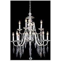 Elegant Lighting 5006D28PS/EC Gracieux 12 Light 28 inch Polished Silver Chandelier Ceiling Light in Elegant Cut