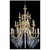 Elegant Lighting 5006D36PG/EC Gracieux 24 Light 36 inch Polished Gold Chandelier Ceiling Light in Elegant Cut