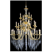 Gracieux 24 Light 36 inch Polished Gold Chandelier Ceiling Light in Elegant Cut