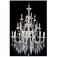 Elegant Lighting Gracieux 24 Light Chandelier in Polished Silver with Elegant Cut Clear Crystal 5006D36PS/EC