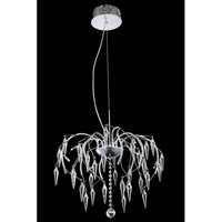 Elegant Lighting V5008D20C/SS Armour 8 Light 20 inch Chrome Chandelier Ceiling Light in Swarovski