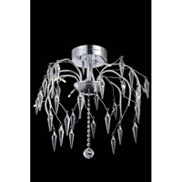 Elegant Lighting Armour 8 Light Flush Mount in Chrome with Swarovski Clear Crystal 5008F20C/SS