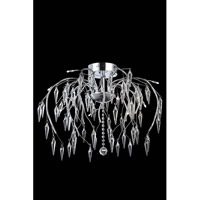 Elegant Lighting Armour 12 Light Flush Mount in Chrome with Swarovski Clear Crystal 5008F24C/SS