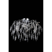 Elegant Lighting Armour 16 Light Flush Mount in Chrome with Swarovski Clear Crystal 5008F28C/SS