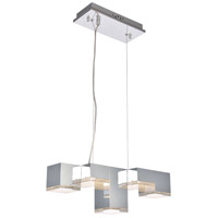 Elegant Lighting 5100D5C Glasgow LED 8 inch Chrome Pendant Ceiling Light