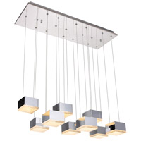 Elegant Lighting 5100D9C Glasgow LED 10 inch Chrome Pendant Ceiling Light