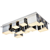 Elegant Lighting 5100F12C Glasgow LED 18 inch Chrome Flush Mount Ceiling Light