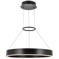 Elegant Lighting 5102D24BR Jenta LED 24 inch Brown Pendant Ceiling Light