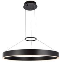 Elegant Lighting 5102D32BR Jenta LED 32 inch Brown Pendant Ceiling Light