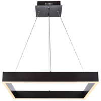 Elegant Lighting 5103D24BR Devlin LED 24 inch Brown Pendant Ceiling Light