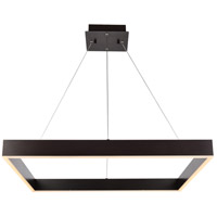 Elegant Lighting 5103D32BR Devlin LED 32 inch Brown Pendant Ceiling Light