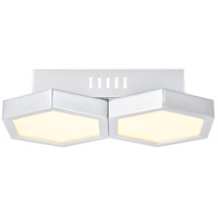 Elegant Lighting 5104F12C Hampton LED 7 inch Chrome Flush Mount Ceiling Light
