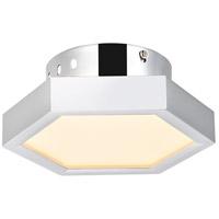 Elegant Lighting 5104F7C Hampton LED 6 inch Chrome Flush Mount Ceiling Light