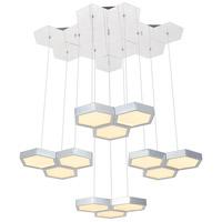 Elegant Lighting 5104G32C Hampton LED 24 inch Chrome Pendant Ceiling Light