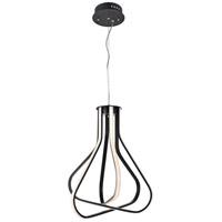 Elegant Lighting 5105D18BK Dahlia LED 18 inch Black Pendant Ceiling Light
