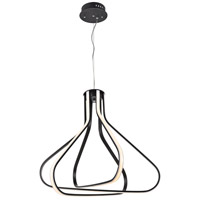 Elegant Lighting 5105D26BK Dahlia LED 27 inch Black Pendant Ceiling Light