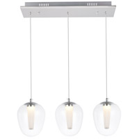 Elegant Lighting 5106D3C Ivy LED 6 inch Chrome Pendant Ceiling Light