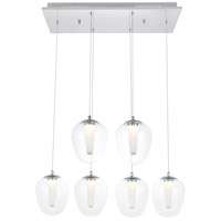 Elegant Lighting 5106D6C Ivy LED 26 inch Chrome Pendant Ceiling Light