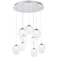 Elegant Lighting 5106D9C Ivy LED 24 inch Chrome Pendant Ceiling Light
