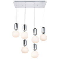 Elegant Lighting 5107D6C Lea LED 12 inch Chrome Pendant Ceiling Light