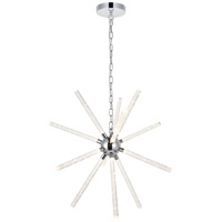 Elegant Lighting 5300D32C Vega LED 34 inch Chrome Pendant Ceiling Light