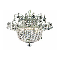 Flora 3 Light 15 inch Chrome Chandelier Ceiling Light in Royal Cut