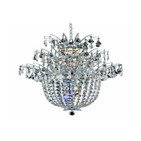 Elegant Lighting Flora 15 Light Chandelier in Chrome with Strass Swarovski Clear Crystals 5800D23C/SS