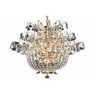 Elegant Lighting Flora 15 Light Chandelier in Gold with Strass Swarovski Clear Crystals 5800D23G/SS