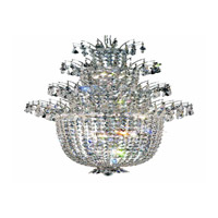 Elegant Lighting Flora 18 Light Chandelier in Chrome with Elegant Cut Clear Crystals 5800D27C/EC