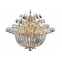 Elegant Lighting Flora 18 Light Chandelier in Gold with Royal Cut Clear Crystals 5800D27G/RC photo thumbnail
