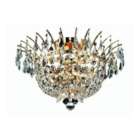 Elegant Lighting Flora 6 Light Flush Mount in Gold with Strass Swarovski Clear Crystals 5800F19G/SS