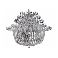 Elegant Lighting Flora 25 Light Chandelier in Chrome with Elegant Cut Clear Crystals 5800G31C/EC
