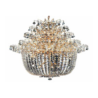 Elegant Lighting Flora 25 Light Chandelier in Gold with Strass Swarovski Clear Crystals 5800G31G/SS