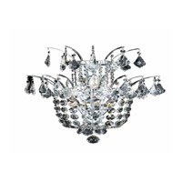 Elegant Lighting Flora 3 Light Wall Sconce in Chrome with Elegant Cut Clear Crystals 5800W15C/EC