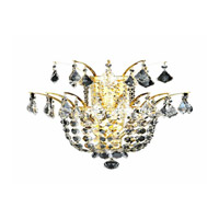 Elegant Lighting Flora 3 Light Wall Sconce in Gold with Royal Cut Clear Crystals 5800W15G/RC