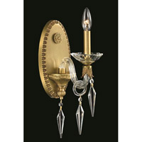 Elegant Lighting Grande 1 Light Wall Sconce in French Gold with Elegant Cut Clear Crystal 5801W5FG/EC