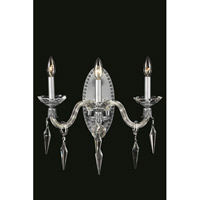 Elegant Lighting 5803W17PW/SS Grande 3 Light 17 inch Pewter Wall Sconce Wall Light in Swarovski Elements
